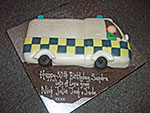 Ambulance Birthday Cake
