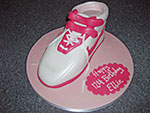 Pink Trainer Birthday Cake