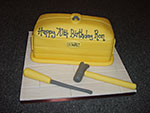 Yellow Tool Box Birthday Cake